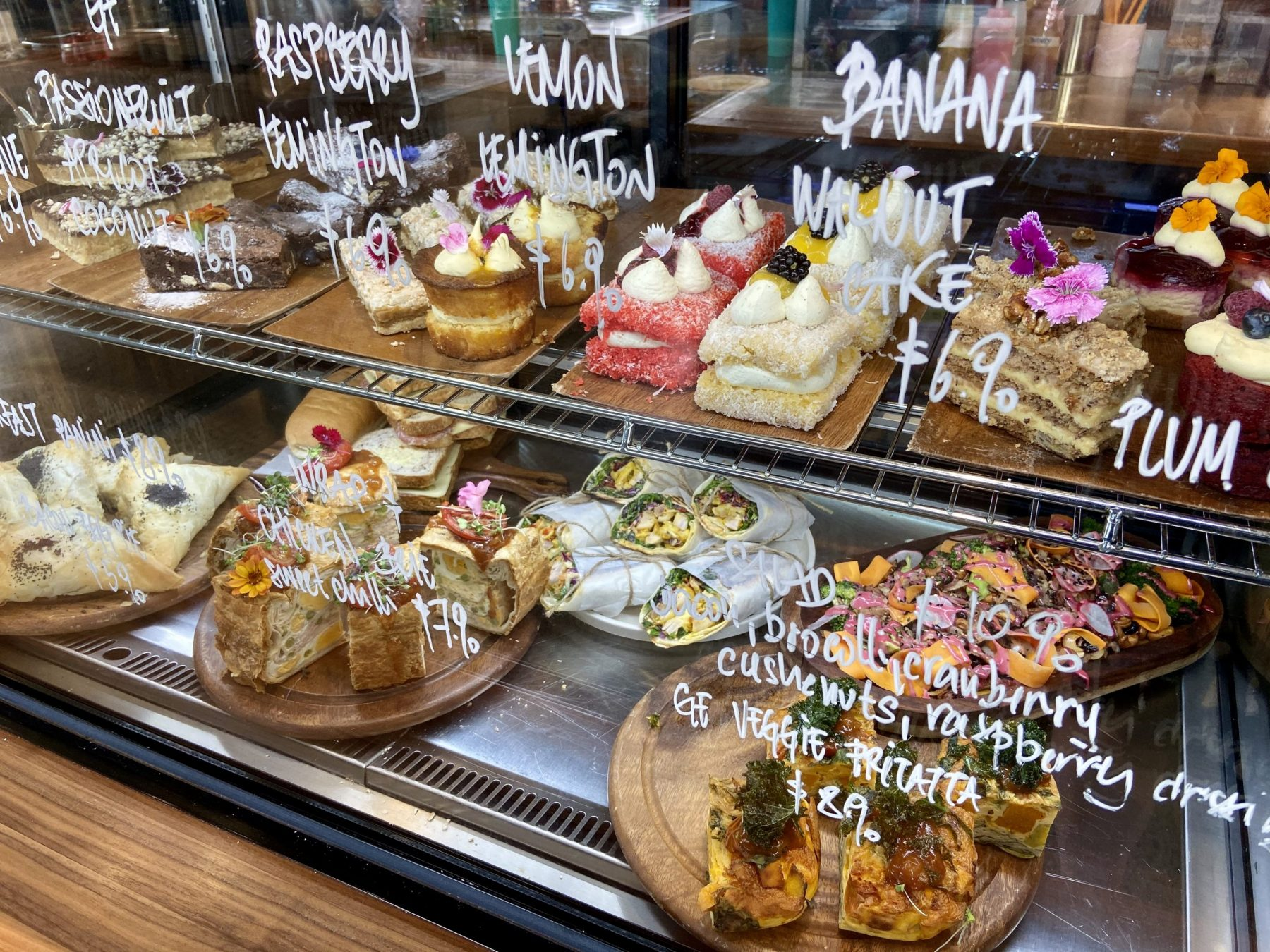 Midpoint Cafe Cabinet Food Selection Hobsonville
