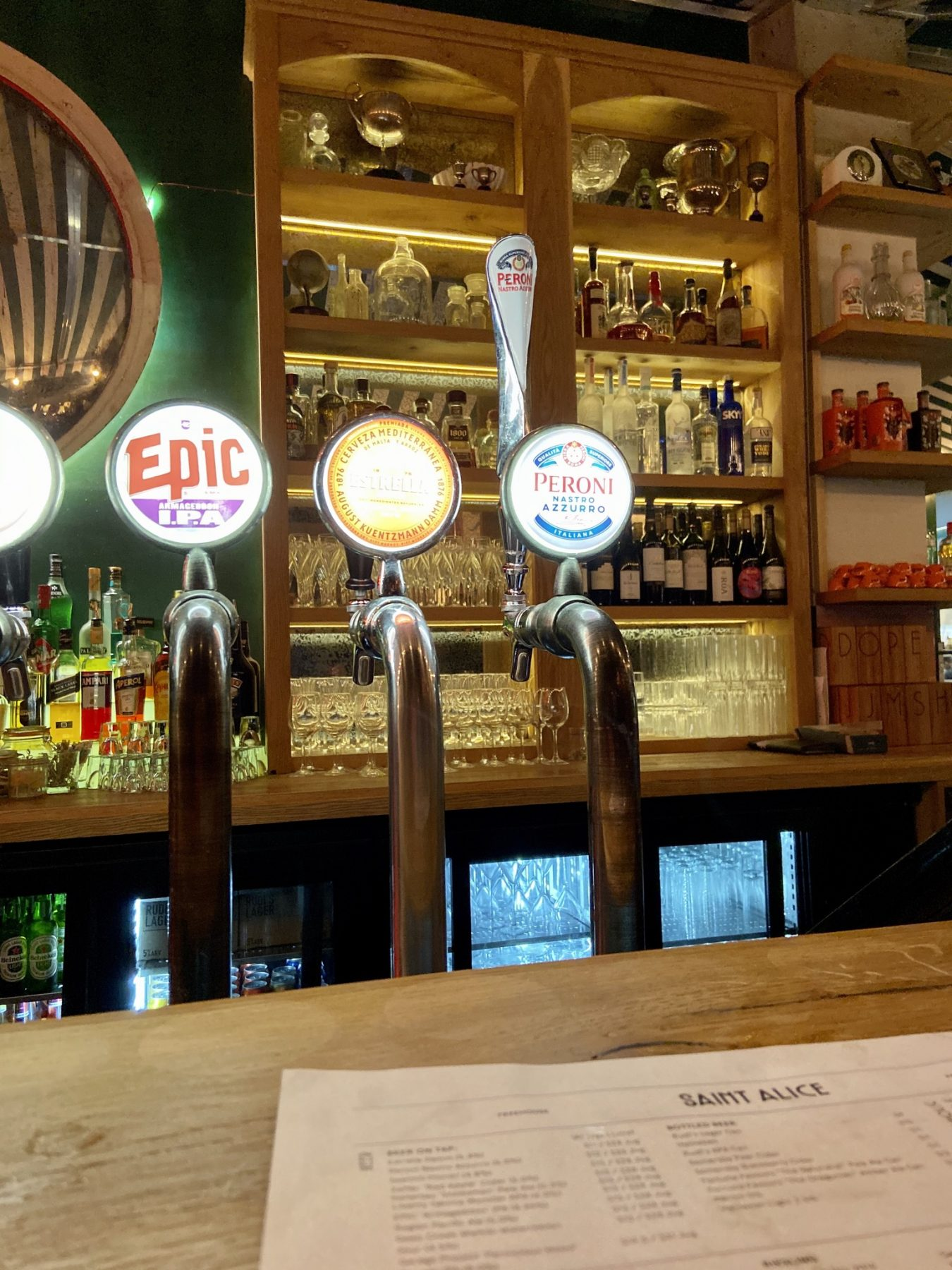 Saint Alice Beer Taps - Viaduct Harbour (Auckland) - Where To Go