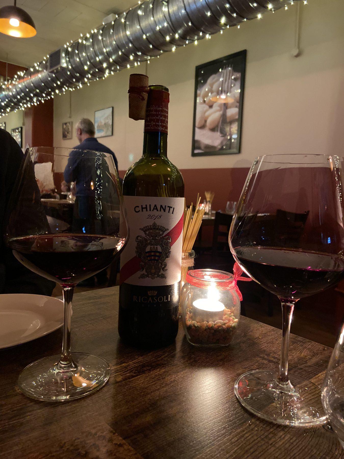 Puglia Italian Restaurant Kingsland Chianti Wine