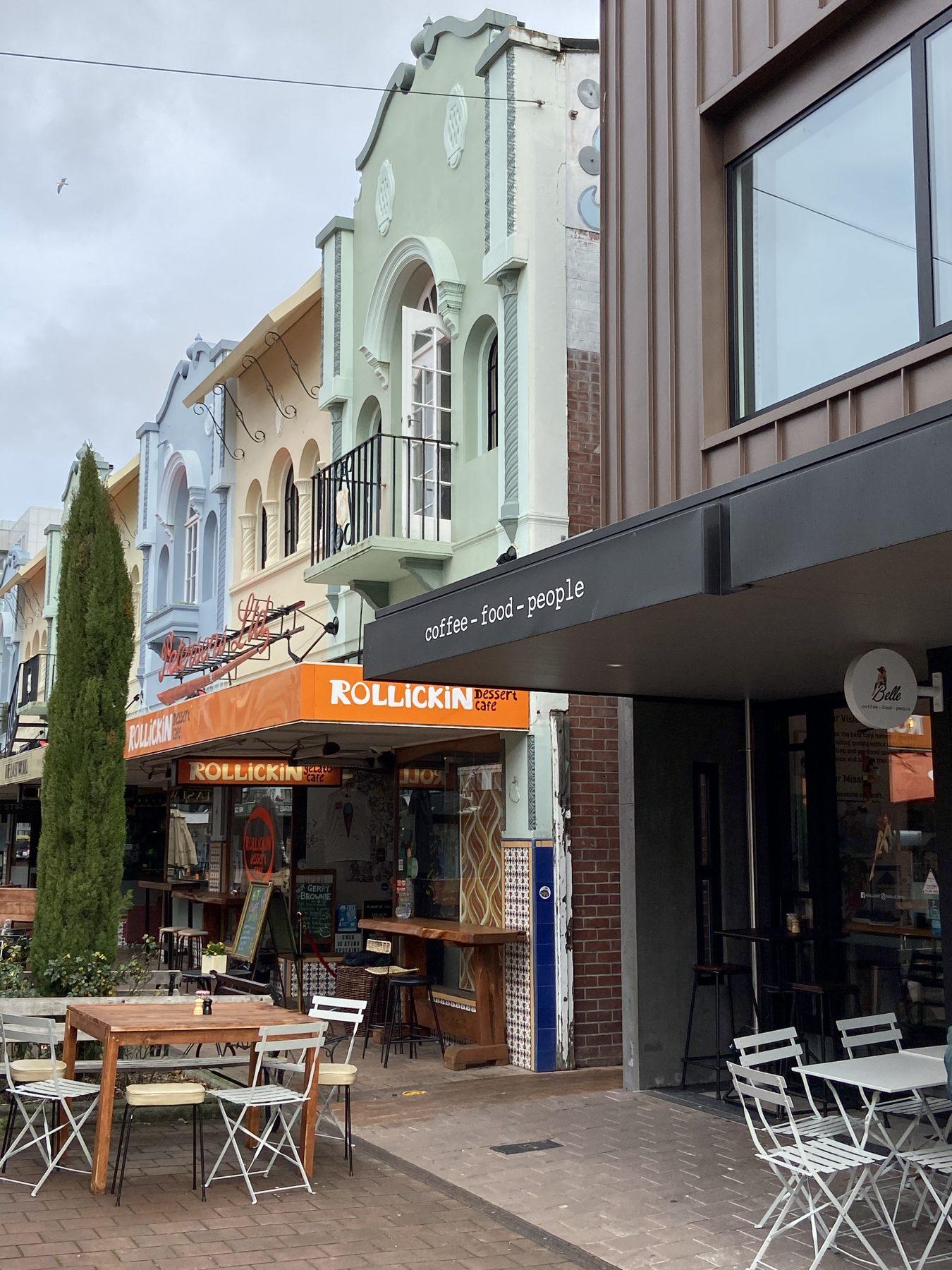 Belle Cafe New Regent Street Christchurch