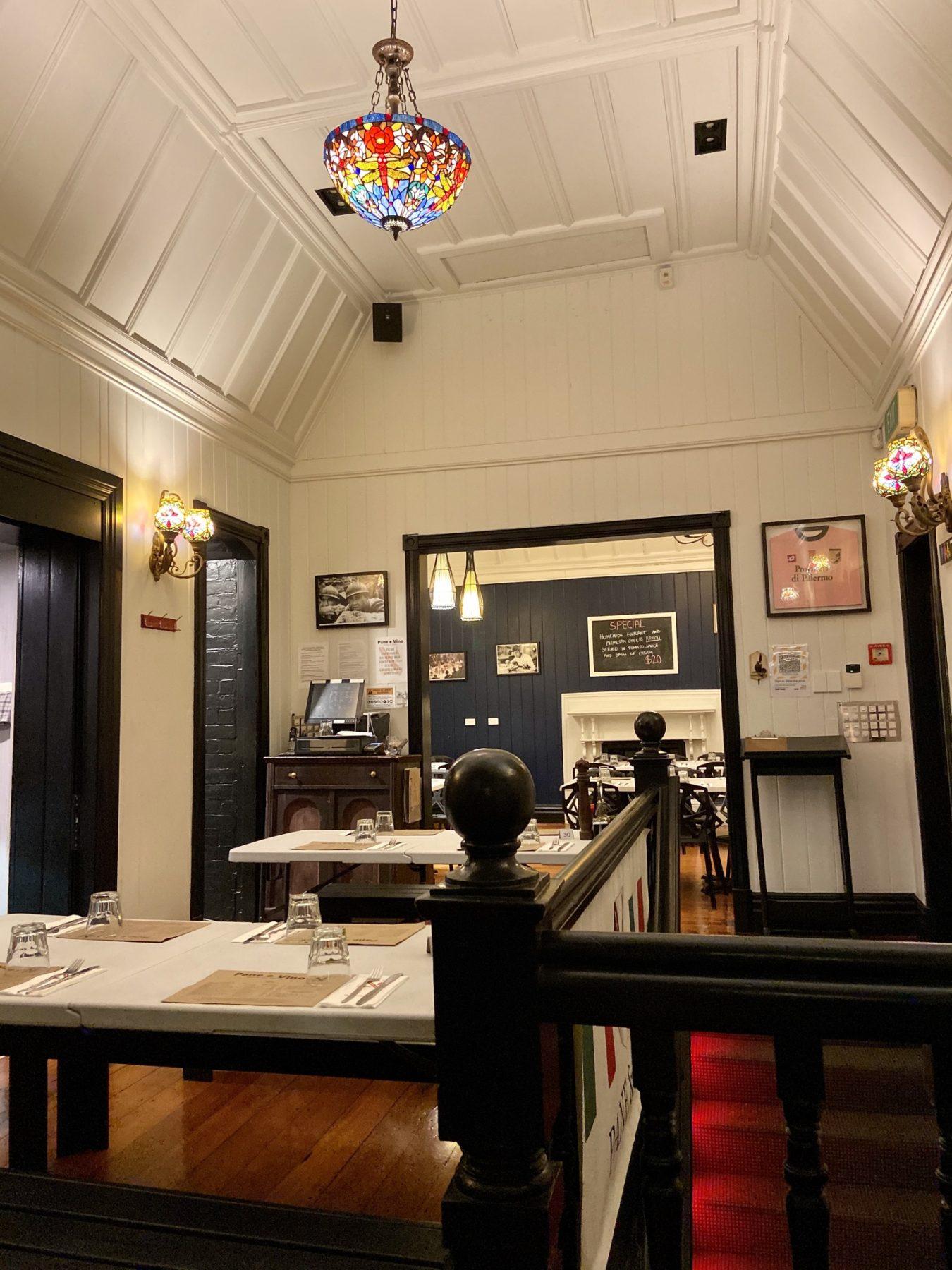 Main Upstairs at Pane E Vino Italian Restaurant Ponsonby