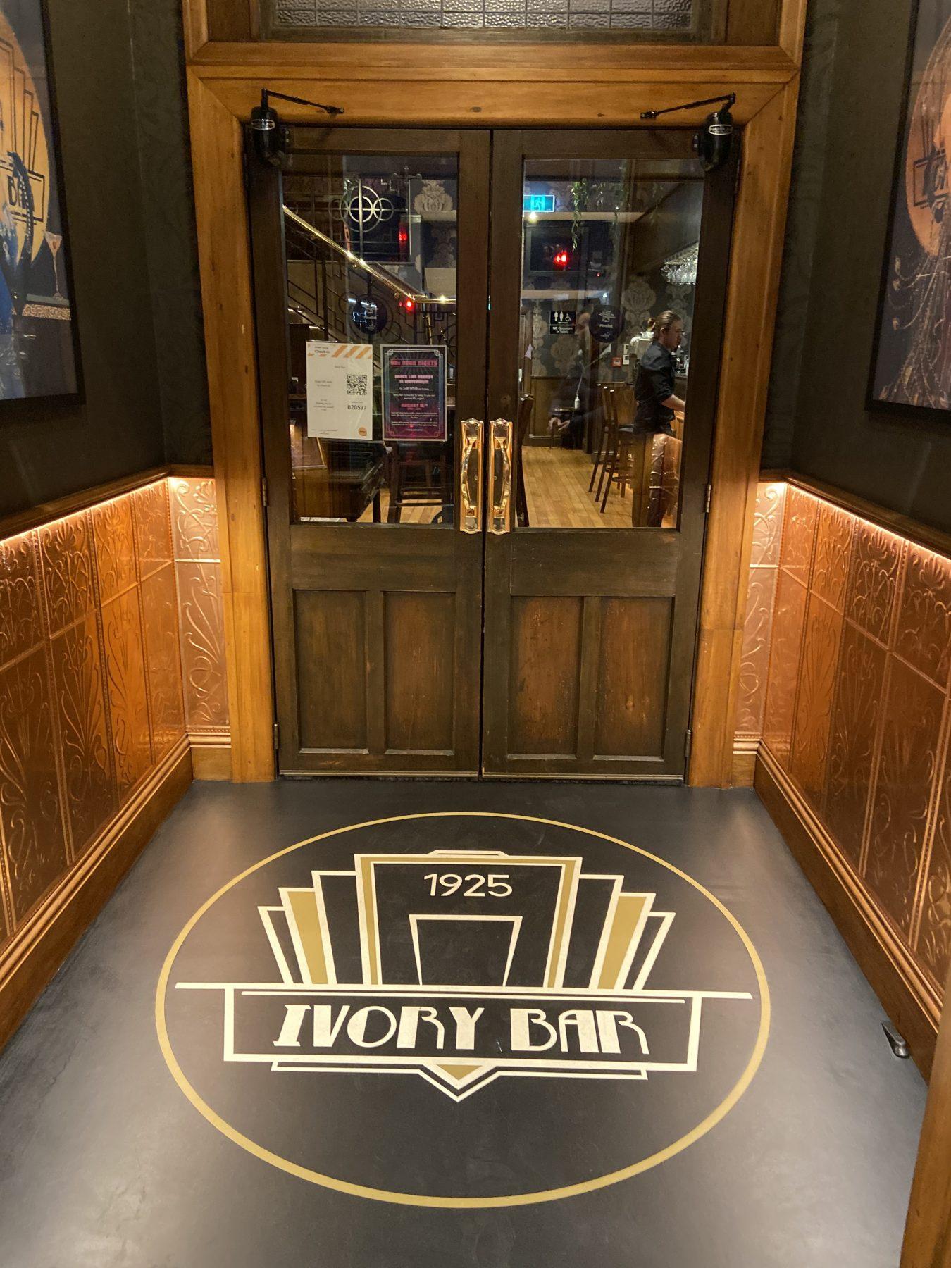 Ivory Bar Rangiora Art Deco Front Door Entry