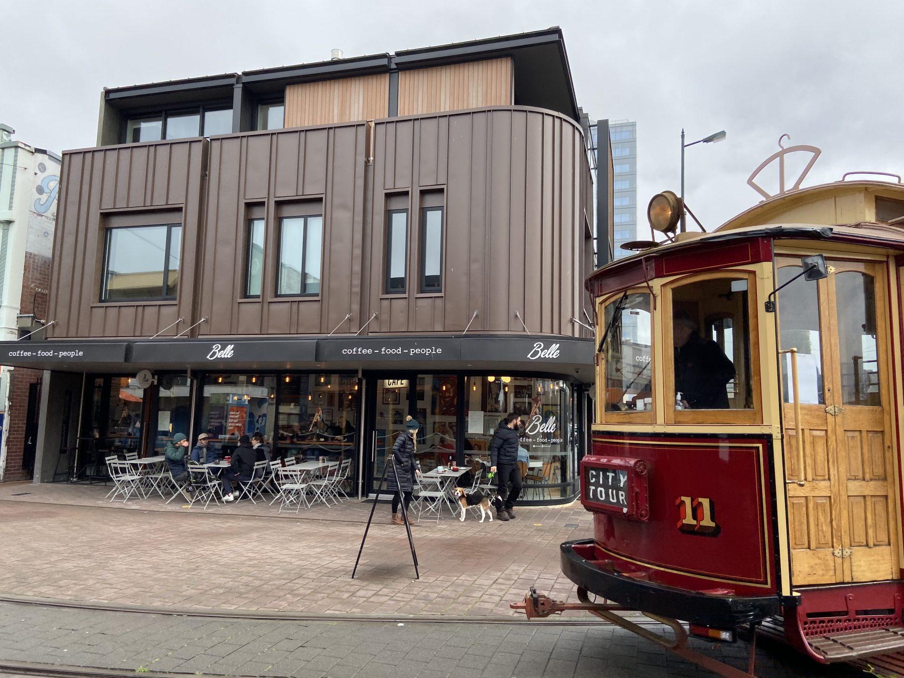 Belle Cafe Christchurch Tram