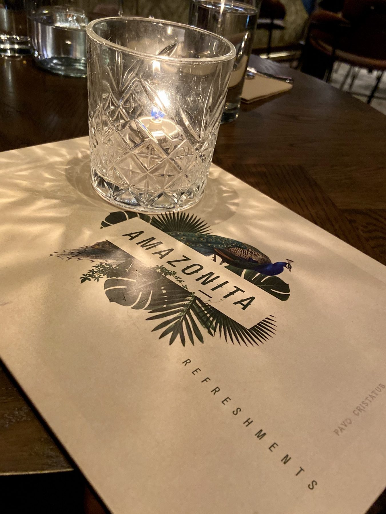 Amazonita Restaurant Drinks Menu Christchurch
