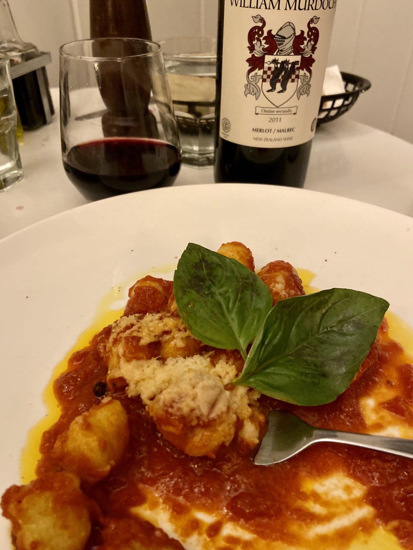 Gnocchi at Pane E Vino Italian Restaurant Ponsonby