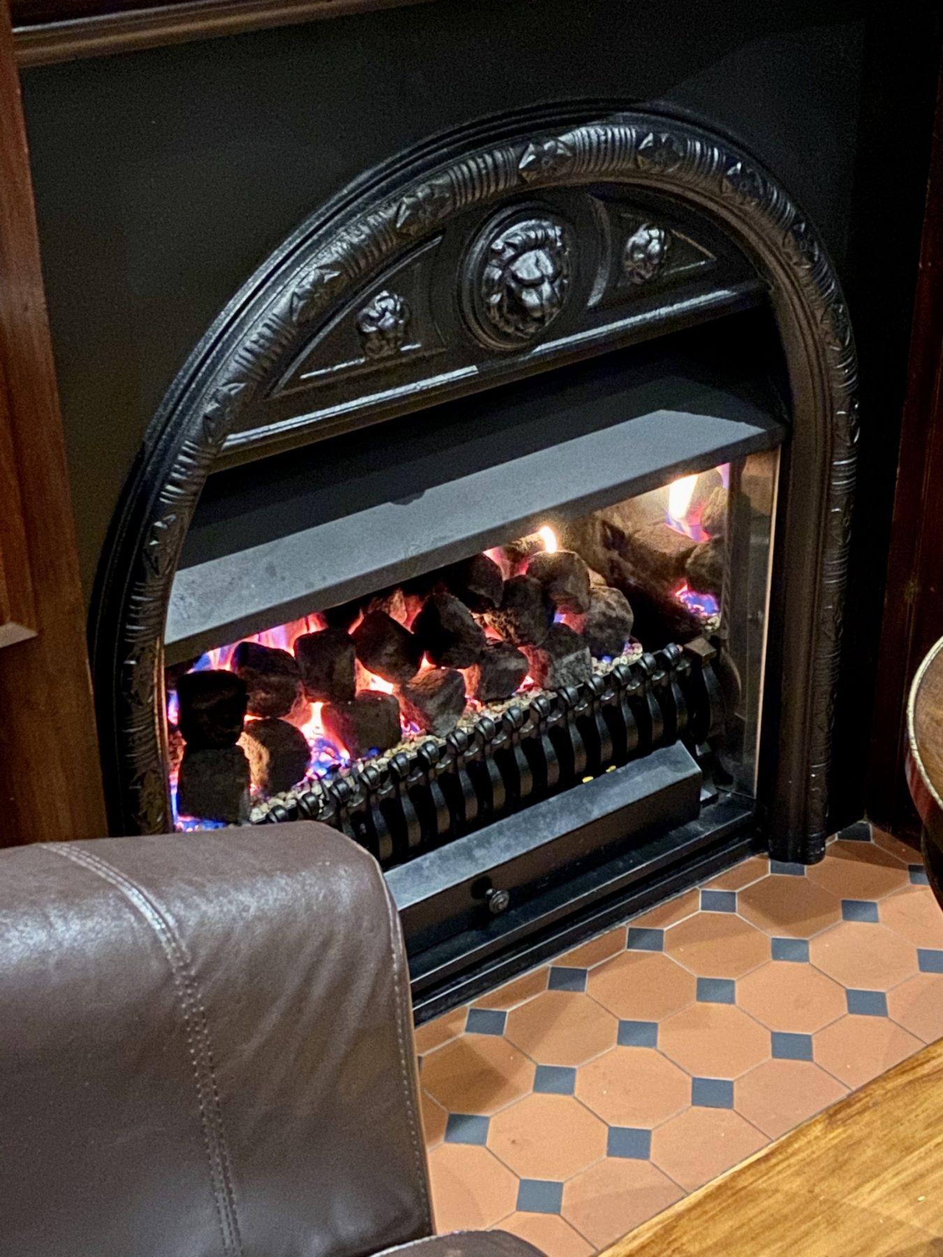 Ivory Bar Rangiora Fireplace Closeup