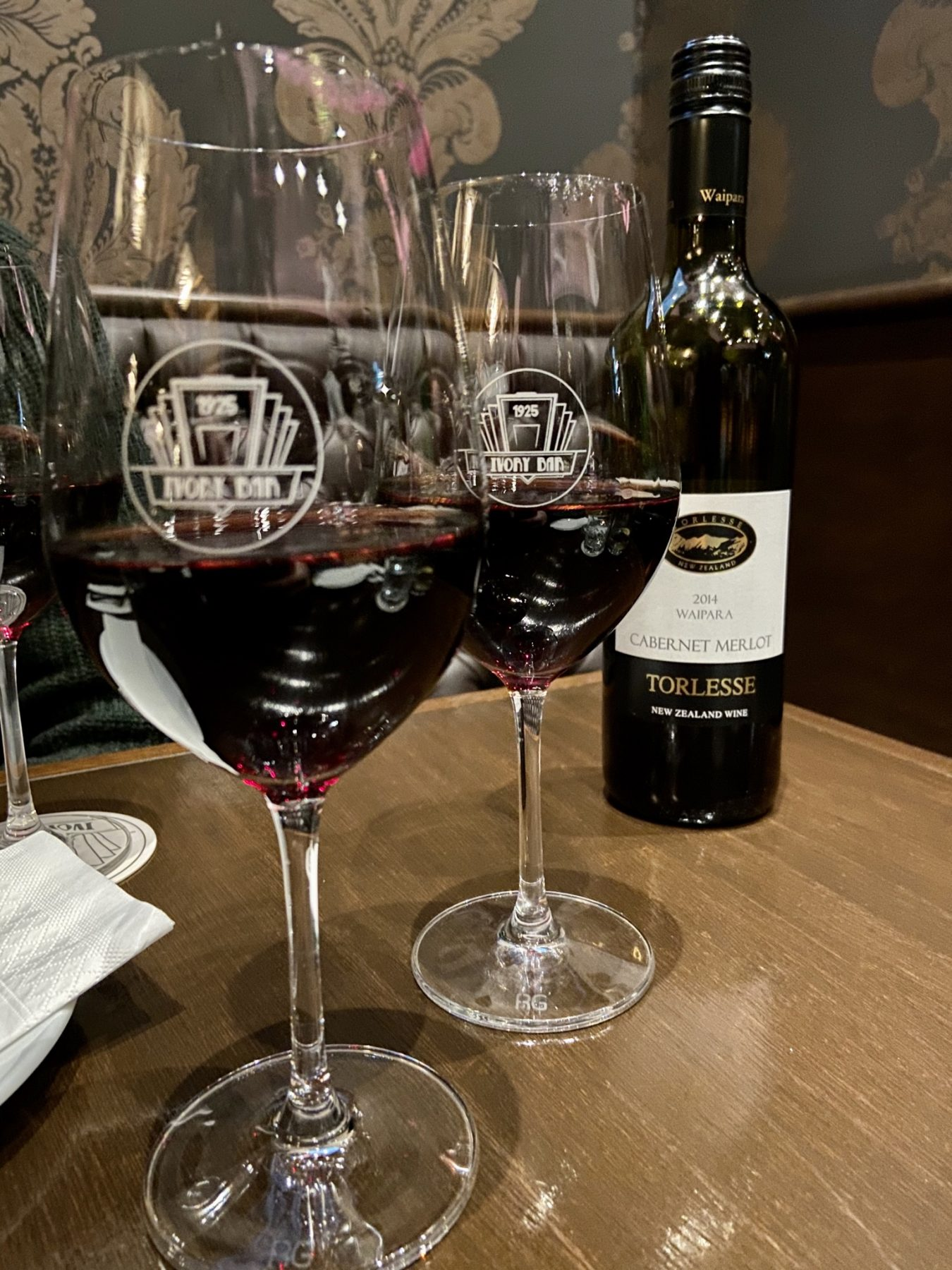Ivory Bar Rangiora Wine Glasses Torlesse Cabernet Merlot