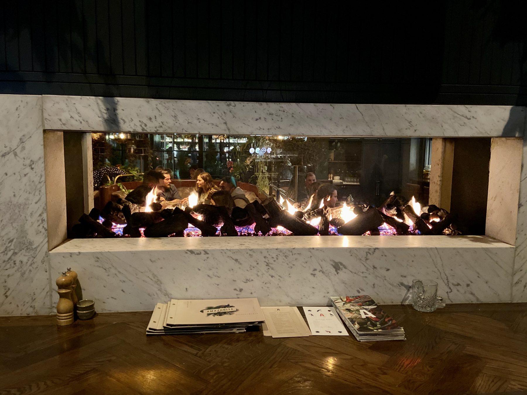 Amazonita Restaurant Christchurch Fireplace