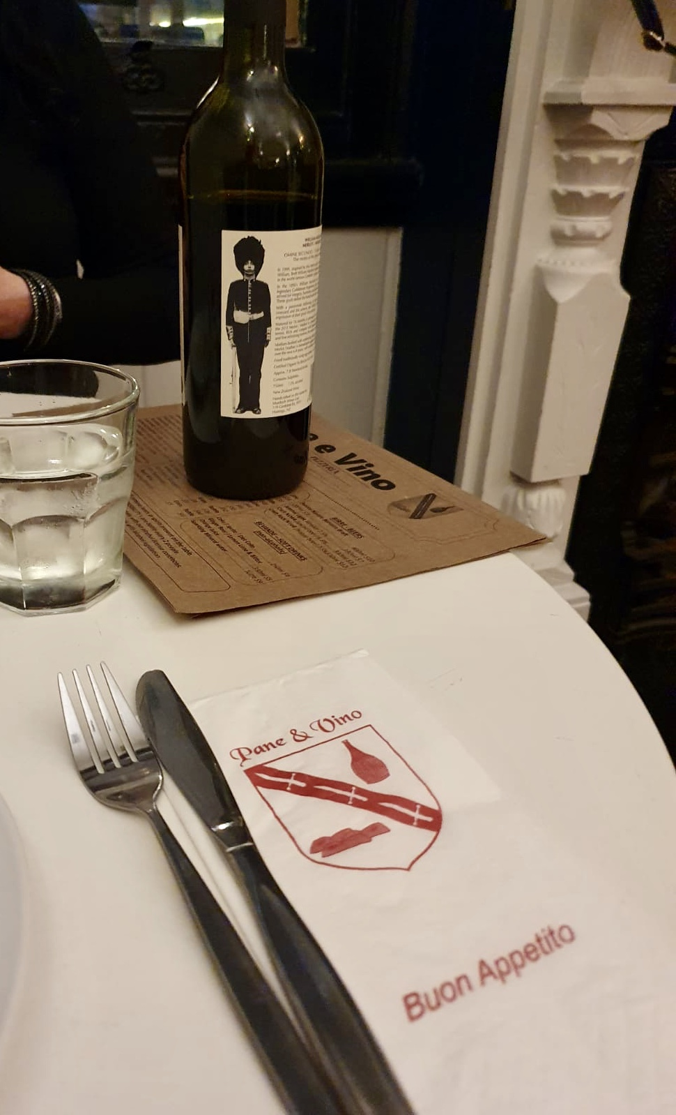 Wine at Pane E Vino Italian Restaurant Ponsonby