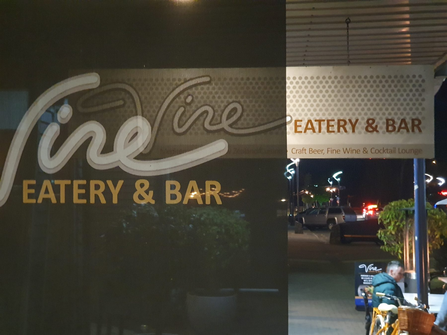 The Vine eatery and bar Taupo sign