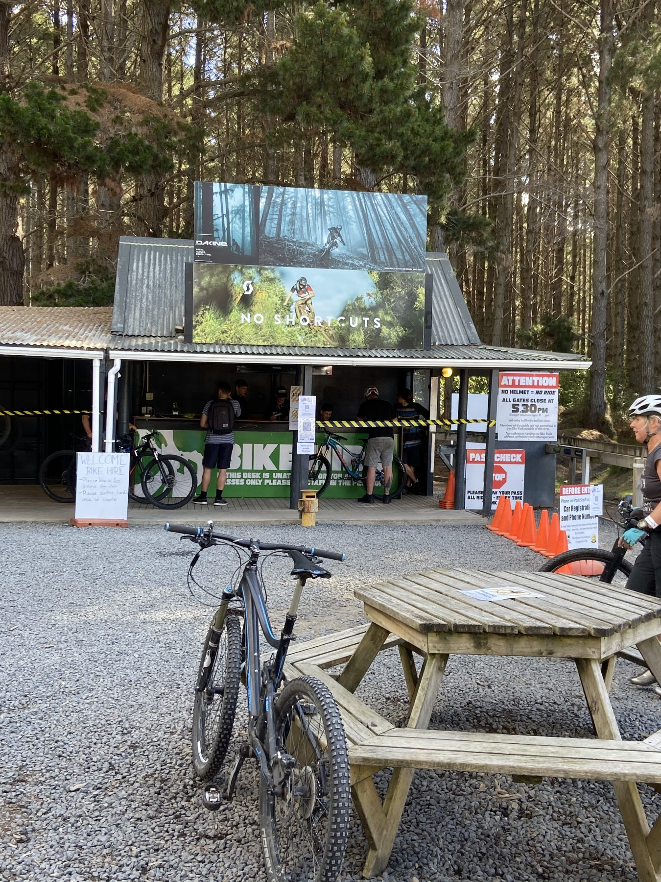 No Shortcuts Sign Woodhill Forest Bike Park