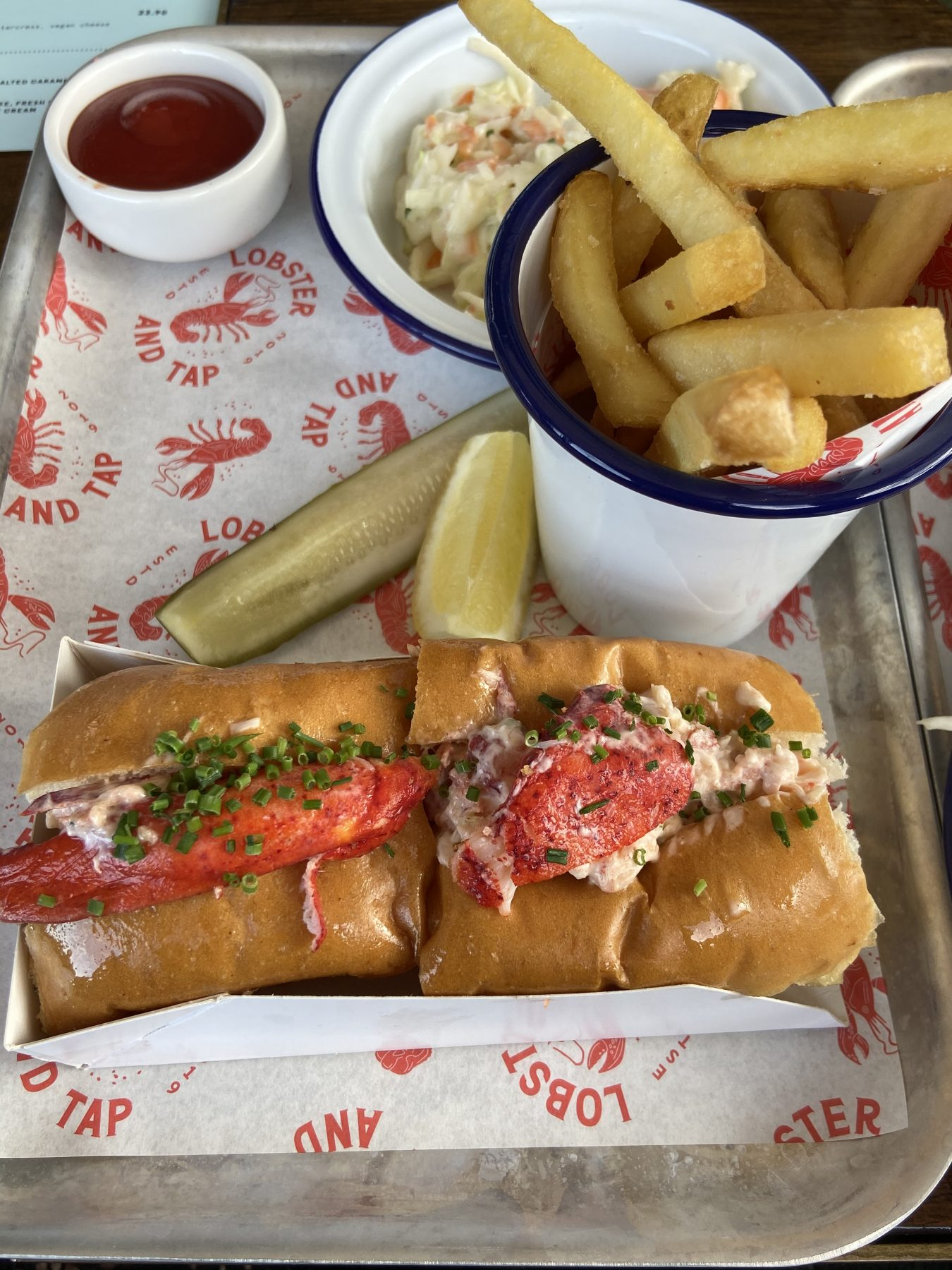 Lobster & Wagyu Chips, Coleslaw & Classic Lobster Roll