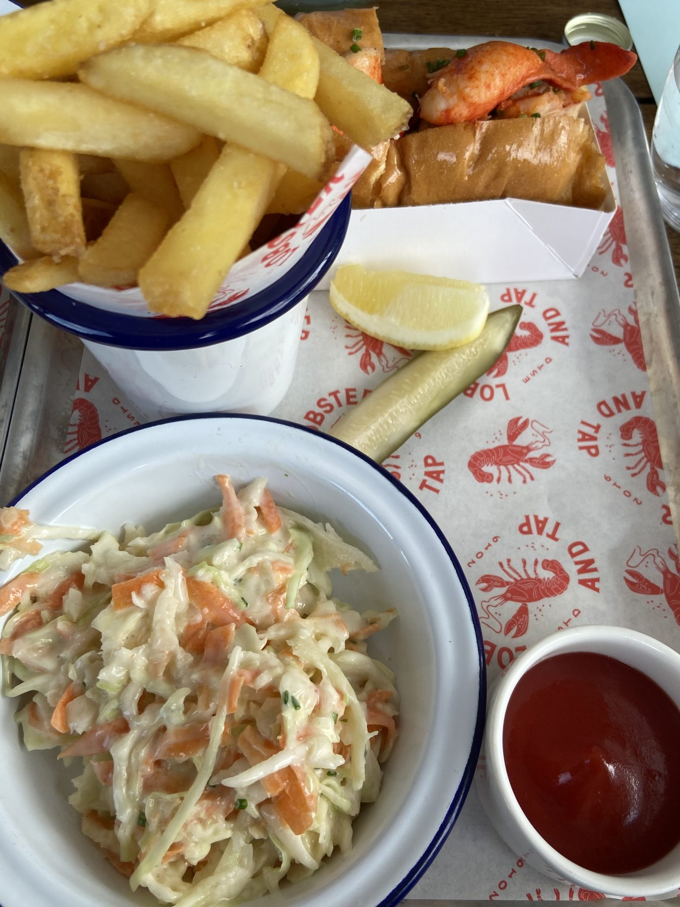 Lobster & Wagyu Chips, Coleslaw & Lobster Roll