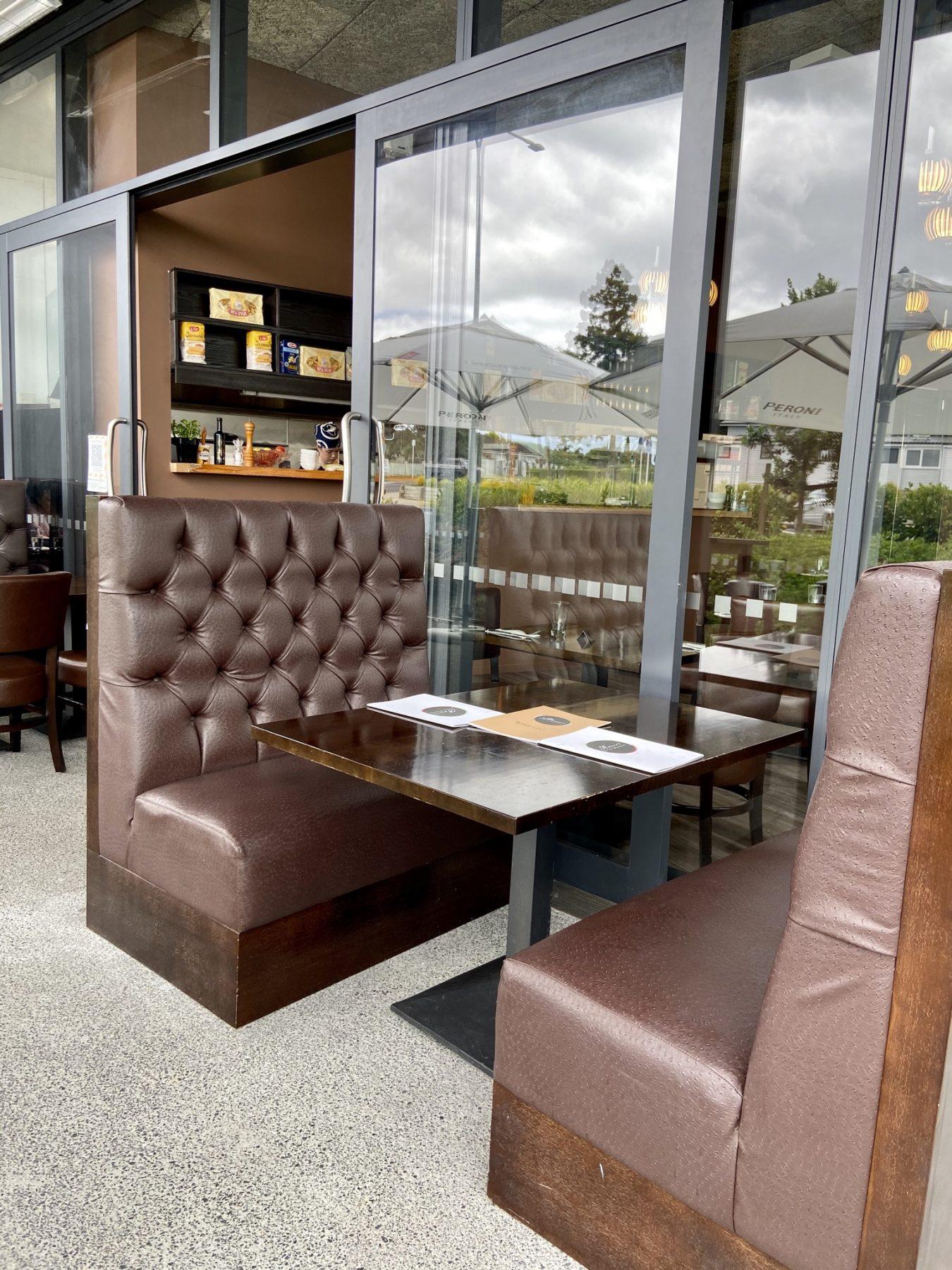 Seating at Amore Italian Restaurant Hobsonville